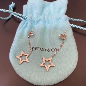 Tiffany & Co. Star Link Lariat Stud Drop Earrings